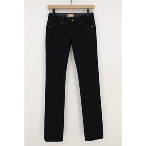 Paige Blue Heights Skinny Jeans 24 Low Rise Dark